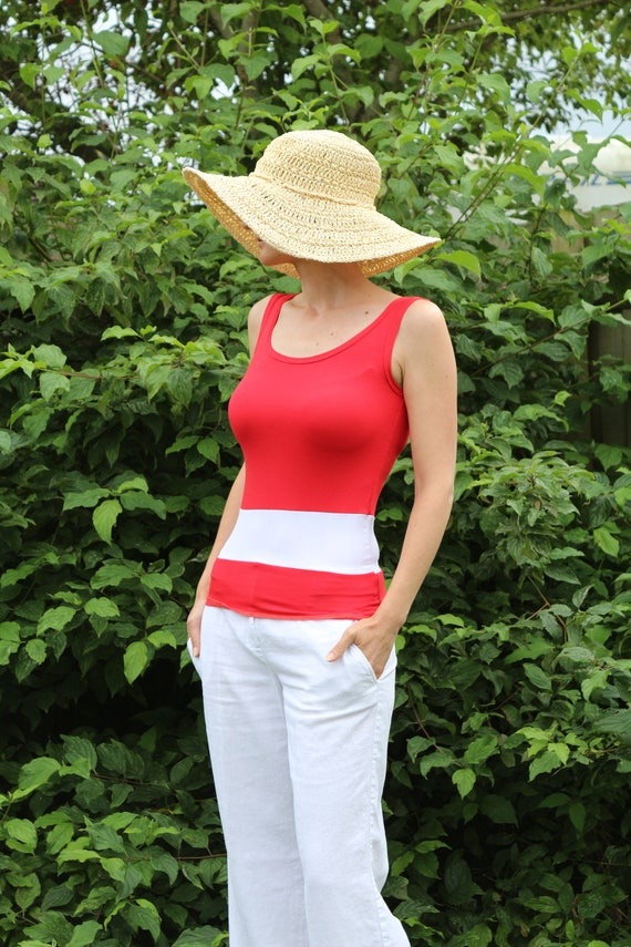 Red top/ Womens red top /  Sleeveless top / Womens blouse / Sleeveles blouse / Sleeveles red top / Red tank top