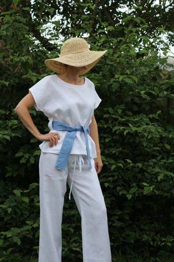 Linen top/ Linen tunic/ Linen top for women/ Summer tunic / Linen tunic for women / White linen top / White linen tunic
