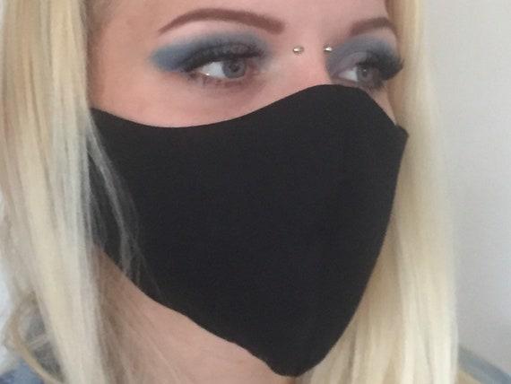 Black face mask / Cotton face mask / Reusable face mask / Plain face mask / Washable face mask / Face mask / Cotton face mask UK