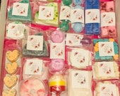 Perfume wax melts, mega bargain wax box, soy wax melt sample mystery box, perfume designer scented wax melts