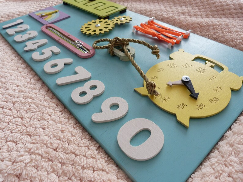 c06f6985b4fac Toddler toy Busy board mid, Baby gift educational toy, Wooden toy  montessori method, First birthday gift, Sensory board, Busy board