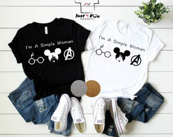 6a5989bb759041 I m A Simple Woman shirts