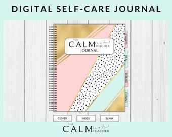 Digital Self Care Journal, Wellness Journal, Shadow Work Journal, Self Care Worksheets, Mental Health Journal, Self Care Workbook