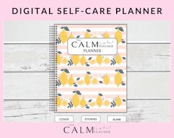 Digital Mindset Planner (Self Care Workbook, Digital Planner, Self Love Planner, Self Care Planner, Morning Routine Planner, Lemon Planner)