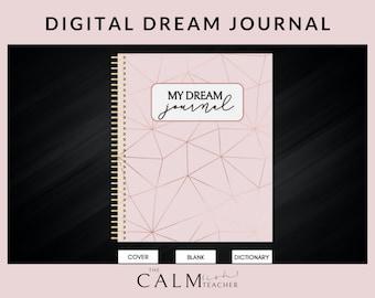 Digital Dream Log, Digital Dream Journal, Sleep Journal, Dream Interpretation, Dream Diary, Guided Dream Tracker, Dream Analysis Prompts