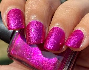 Jorjana - bright sparkly pink foil nail polish