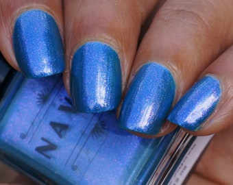 Blue Agave - blue leaning green nail polish with purple to green shifting shimmer