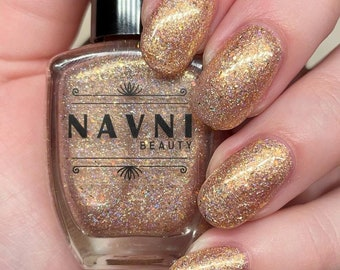 Gold Riddance 2020 - gold glitter nail polish with iridescent glitter and holographic sparkles