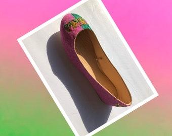 best sneakers 0a6ec 4adeb AKA Alpha Kappa Alpha Custom Made Pink and Green Glitter Ballet Flats    Free U.S. Shipping  JCo.Danseur Shoes