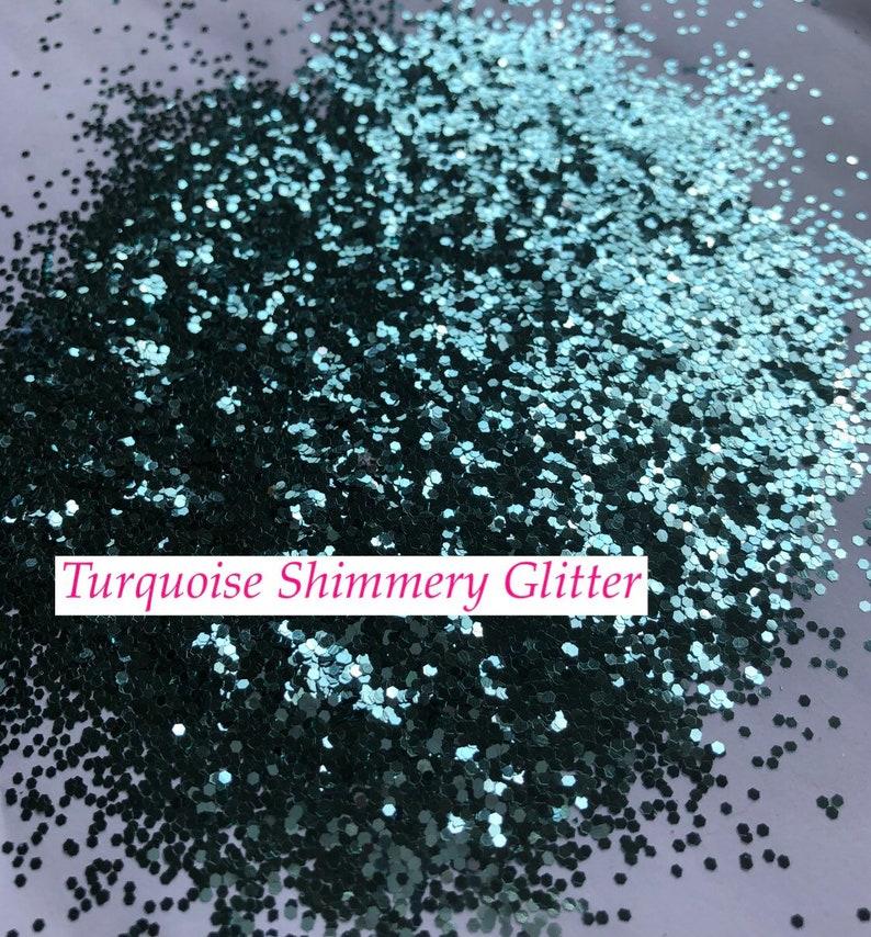 Wedding Blue Ballet Flat Women\u2019s Custom Easter Turquoise Glittered Ballet Flats wBlue Bottoms *Free U.S  Shipping* JCoDanseur Shoes