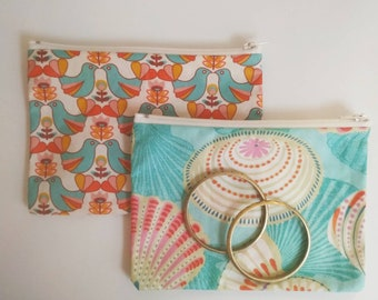STORAGE BEFORE CLOSING - Flat pouch or kit made of un-lined coated fabric