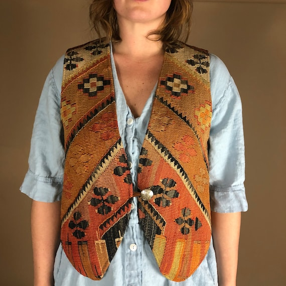 The Middle. Vintage woven hippie/boho festival ve… - image 7