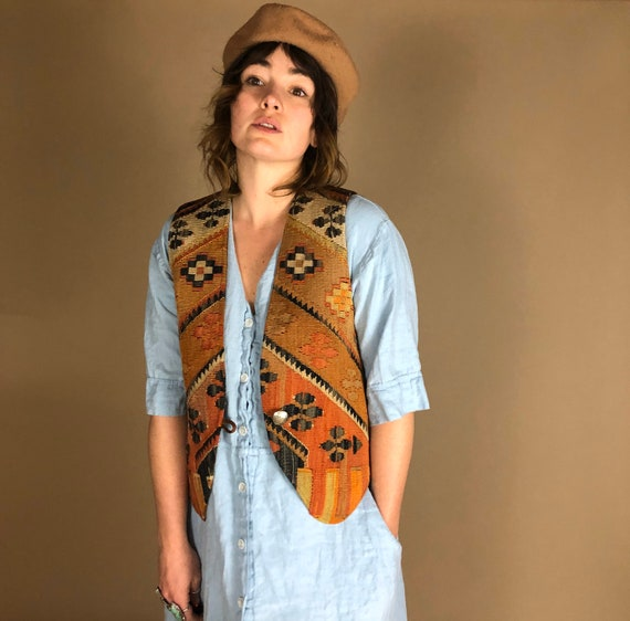 The Middle. Vintage woven hippie/boho festival ve… - image 2
