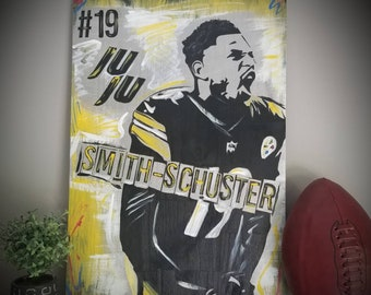 992fedcb57e Pittsburgh Steelers JuJu Smith-Schuster 16x24 Large Wood Art!