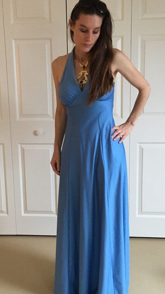 Vintage 70s Disco era Dress. Halston style. - image 1