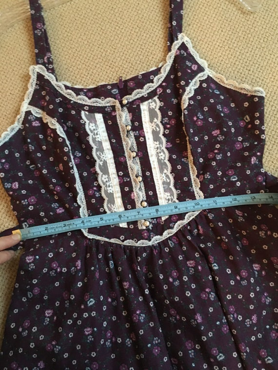 Gunne Sax Sundress/Cottage/ Boho/70s vintage dres… - image 9