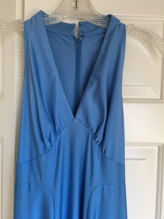 Vintage 70s Disco era Dress. Halston style. - image 2