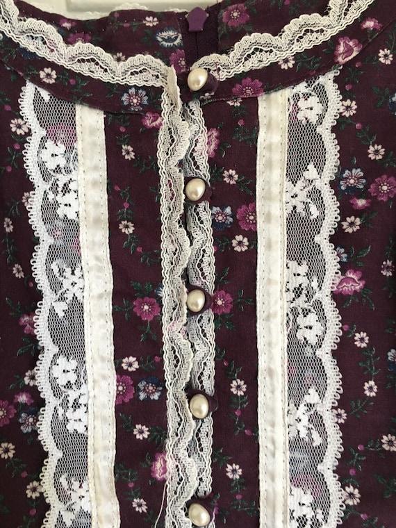 Gunne Sax Sundress/Cottage/ Boho/70s vintage dres… - image 6