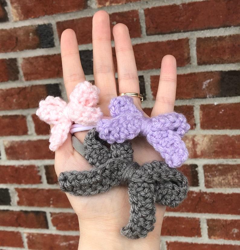 Grace Bow Headband Set Crocheted Bows