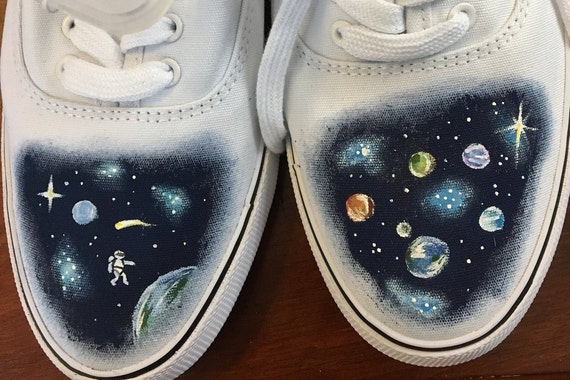 Weltraum Schuhe Handbemalte Handbemalte Schuhe Weltraum Handbemalte CQorWxBedE