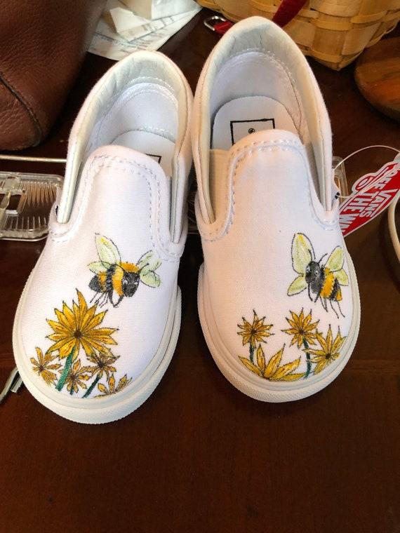 Hand Painted Bumble Bee Vans