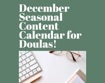 December Content Calendar for Birth Workers