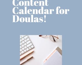 Content Calendar for Doulas: Moonstone Series