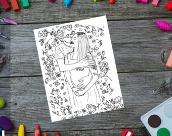Coloring Page Pack: Lilac Collection