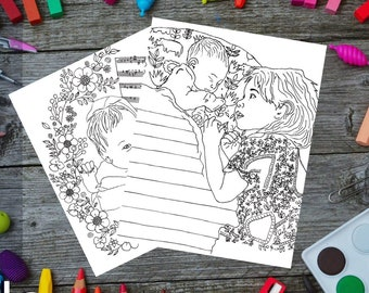 New Siblings Coloring Page Pack