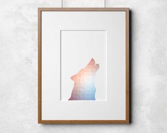61088b8567ad Howling Wolf Print