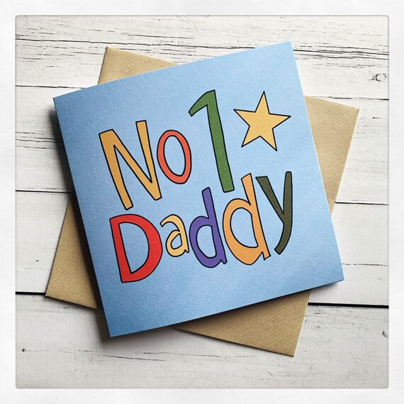 Father's Day, dad, number one , daddy , childrens, greeting card.