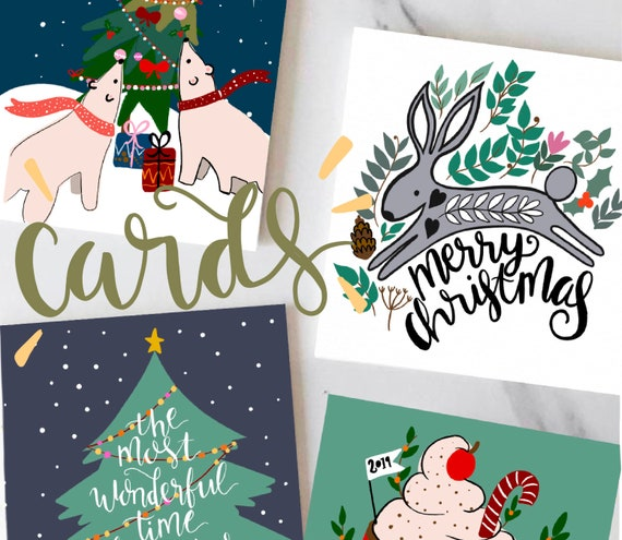 Selection of Christmas cards.