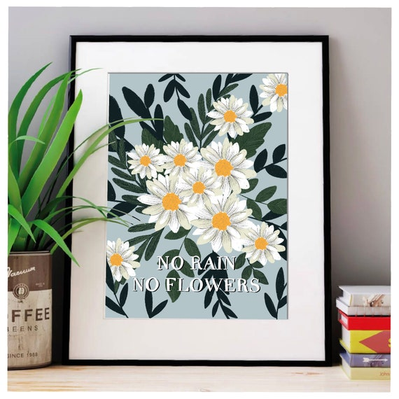 Flowers / prints / Art / daisies  / A4 / A5 / gift / for her / bedroom / art / artwork / floral / digital / illustration / wildflower / love