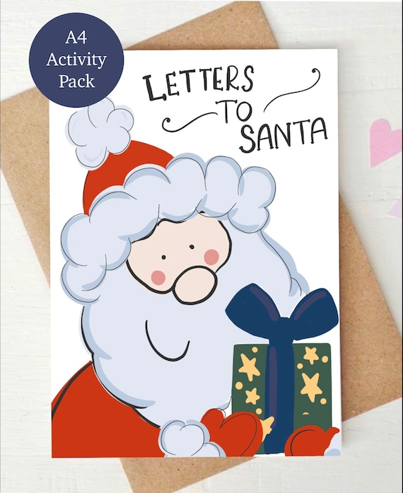 Letters to santa, activity pack, a4