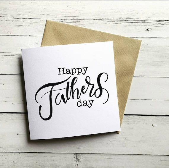 Happy Father's Day, typography, dad, daddy, greeting card.