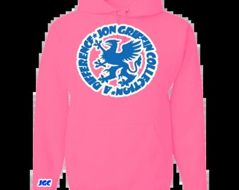 1365ff18a Neon pink hoodie | Etsy