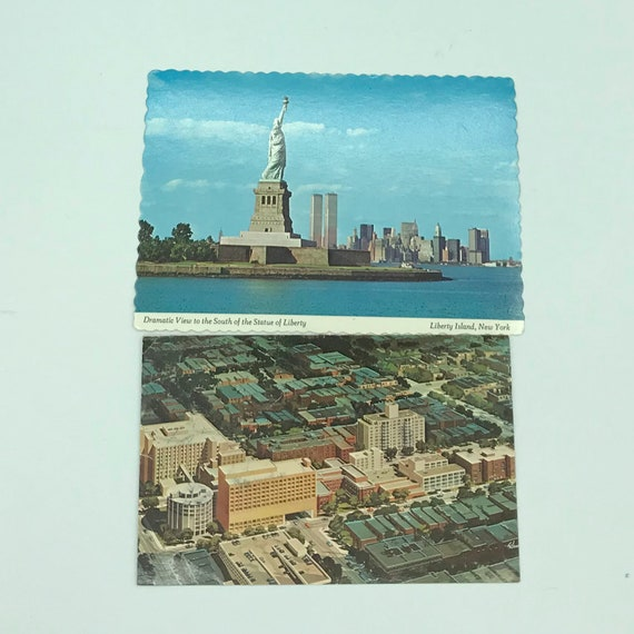 Vintage New York City Postcards Set of 10  from  1960/'s and 70/'s Used and New   for Mixed Media Travel and Junk Journals Collage