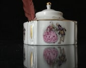 Limoges chantilly antique porcelain inkwell. Rare