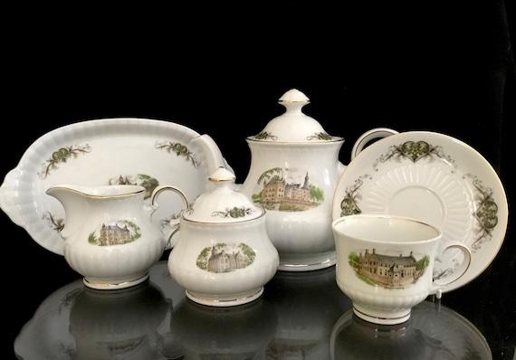 Rare Dutch castel Bavaria Porcelain  R\u00f6slau Original Dutch Castles Coffee set