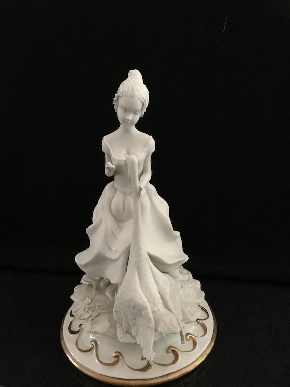 ** Limited edition CESARE VILLARI CAPODIMONTE Porcelain Bird Sculpture  **