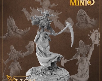 28mm Lich miniature for Dungeons and Dragons D&D | DnD miniatures | Pathfinder by Fantasy Minis