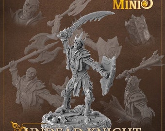 28mm Undead Skeleton Knight miniature for Dungeons and Dragons D&D | DnD miniatures | Pathfinder by Fantasy Minis