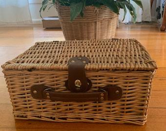 storage basket for children French vintage small rattan basket for children in french vintage style,french vintage mini picnic basket