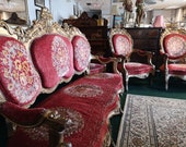 French Guiltwood Louis XV Revival Salon Suite 19th 20th Century