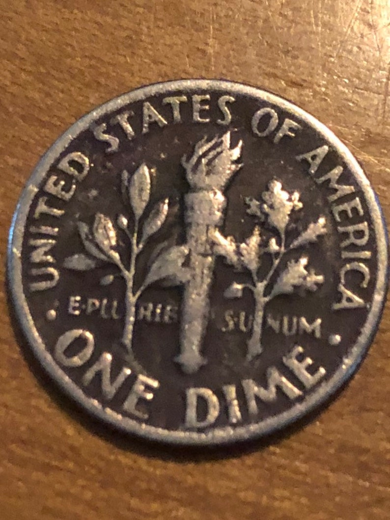 1970 D Error Dime OBV and Reverse
