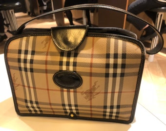 34d41f4f73b4 Vintage Burberry Top Handle Bag