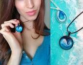 Resin Necklace, Resin Pendant, Resin Jewelry, Blue, Ocean art, Beach art, Sea art, Resin jewellery, Ocean pendant, Ocean necklace, Resin