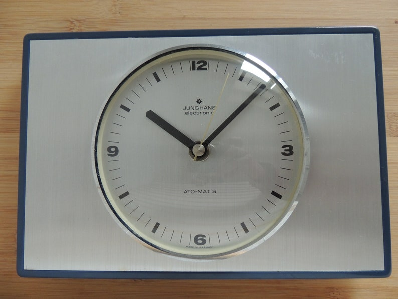Pleasing Junghans Electronic Walking Watch Kitchen Watch Clock Kitchen Clock Metal Blue Silver Vintage Download Free Architecture Designs Rallybritishbridgeorg