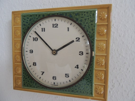 Astonishing Wall Watch Kitchen Watch Ceramic Clock Kitchen Clock Ceramic Vintage 50Er 60S Home Interior And Landscaping Synyenasavecom