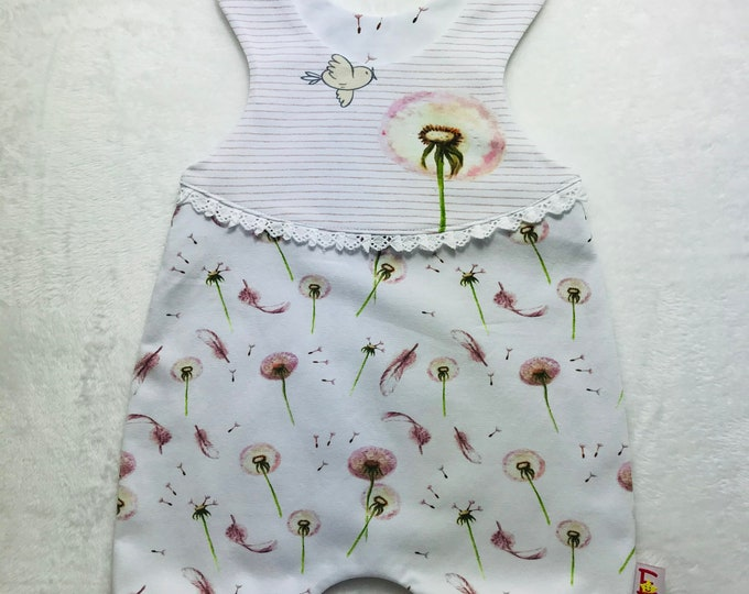 Featured listing image: Romper patterned pusteblumen white/pink